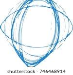 vector grunge paint brush.... | Shutterstock .eps vector #746468914