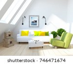 white scandinavian room... | Shutterstock . vector #746471674