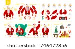 santa claus character  set for... | Shutterstock .eps vector #746472856
