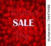 vector valentine's day sale card   Shutterstock .eps vector #746474488