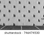 stucco wall with shadows.... | Shutterstock . vector #746474530