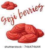 dried goji berries icon... | Shutterstock .eps vector #746474644