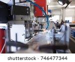 metalworking cnc milling... | Shutterstock . vector #746477344