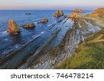 playa de arnia near santander...   Shutterstock . vector #746478214