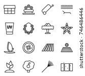 thin line icon set   market ... | Shutterstock .eps vector #746486446
