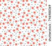 fashionable pattern in small... | Shutterstock . vector #746488369