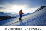 skiing with amazing view of... | Shutterstock . vector #746490610