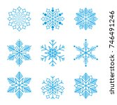 snowflake winter design season... | Shutterstock .eps vector #746491246
