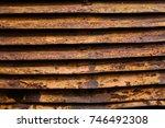 rusty background. | Shutterstock . vector #746492308
