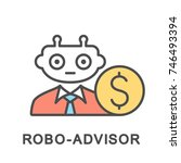 icon robo advisor. robotic... | Shutterstock .eps vector #746493394