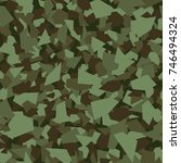 camouflage seamless pattern.... | Shutterstock .eps vector #746494324