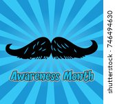 no shave november. mustache... | Shutterstock .eps vector #746494630