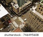 looking down on the streets of... | Shutterstock . vector #746495608