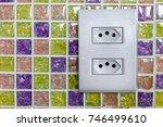 brazilian electricity outlet | Shutterstock . vector #746499610