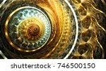 Golden Futuristic Clockwork...