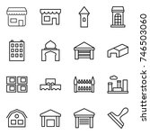 thin line icon set   shop ... | Shutterstock .eps vector #746503060