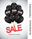 black friday sale poster with...   Shutterstock .eps vector #746504563