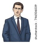 sebastian kurz  austrian... | Shutterstock .eps vector #746506039