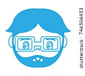 cartoon man with glasses icon    Shutterstock .eps vector #746506453