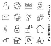 thin line icon set   man ... | Shutterstock .eps vector #746506738