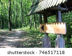 sign sign in forest signpost