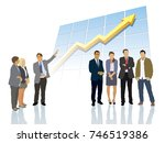 presentation of the successful... | Shutterstock . vector #746519386