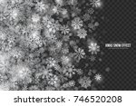 vector xmas snow effect with... | Shutterstock .eps vector #746520208