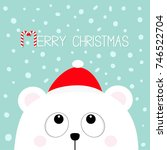merry christmas candy cane.... | Shutterstock .eps vector #746522704