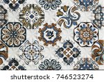tile with an abstract pattern   Shutterstock . vector #746523274