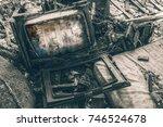 horror in tv | Shutterstock . vector #746524678