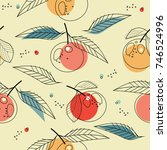 seamless pattern with... | Shutterstock .eps vector #746524996