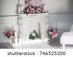 flower arch  flower decoration   Shutterstock . vector #746525200