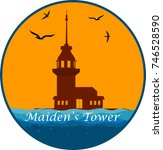 the maiden's tower of istanbul  ... | Shutterstock .eps vector #746528590
