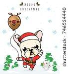 vector of  french bulldog... | Shutterstock .eps vector #746534440