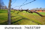 auschwitz concentration camp in ...   Shutterstock . vector #746537389
