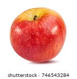 fresh apple isolated on white... | Shutterstock . vector #746543284
