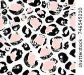 distressed black and pink... | Shutterstock . vector #746545210