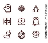 christmas line icon collection | Shutterstock .eps vector #746546950