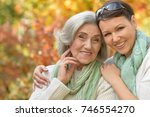 senior woman with daughter  | Shutterstock . vector #746554270
