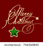 christmas  christmas ornament ... | Shutterstock . vector #746560840