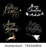 christmas  gold  glitter ...   Shutterstock . vector #746560846