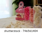 bat mitzvah with assorted... | Shutterstock . vector #746561404
