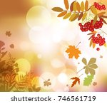 autumn floral background.    Shutterstock . vector #746561719