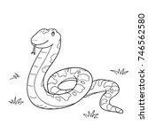 snake cartoon vector hand drawn   Shutterstock .eps vector #746562580