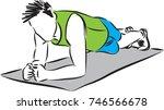 fitness man workout vector... | Shutterstock .eps vector #746566678