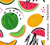 abstract colorful slices of... | Shutterstock .eps vector #746569354