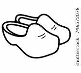 Dutch Wooden Clog Shoes...