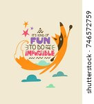 creative typography poster with ... | Shutterstock .eps vector #746572759