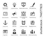 seo   internet marketing icons...   Shutterstock .eps vector #746577823
