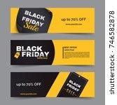 black friday horizontal banner... | Shutterstock .eps vector #746582878
